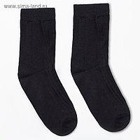Носки мужские тёплые, цвет чёрный, размер 29