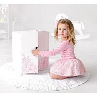 Игрушка детская шкаф с дизайнерским цветочным принтом (коллекция 'Diamond princess' белый)