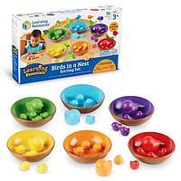 Набор для сортировки 'Цветные гнёздышки', 36 элементов