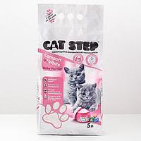 Наполнитель для котят комкующийся минеральный CAT STEP Compact White Baby Powder, 5 л