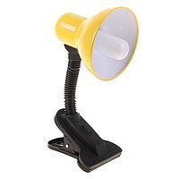 Лампа настольная Е27, с выкл. на зажиме (220В) желтая (108В)