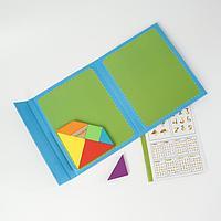 Детская развивающая головоломка магнитная «Составь фигуру» 28×17×2 см