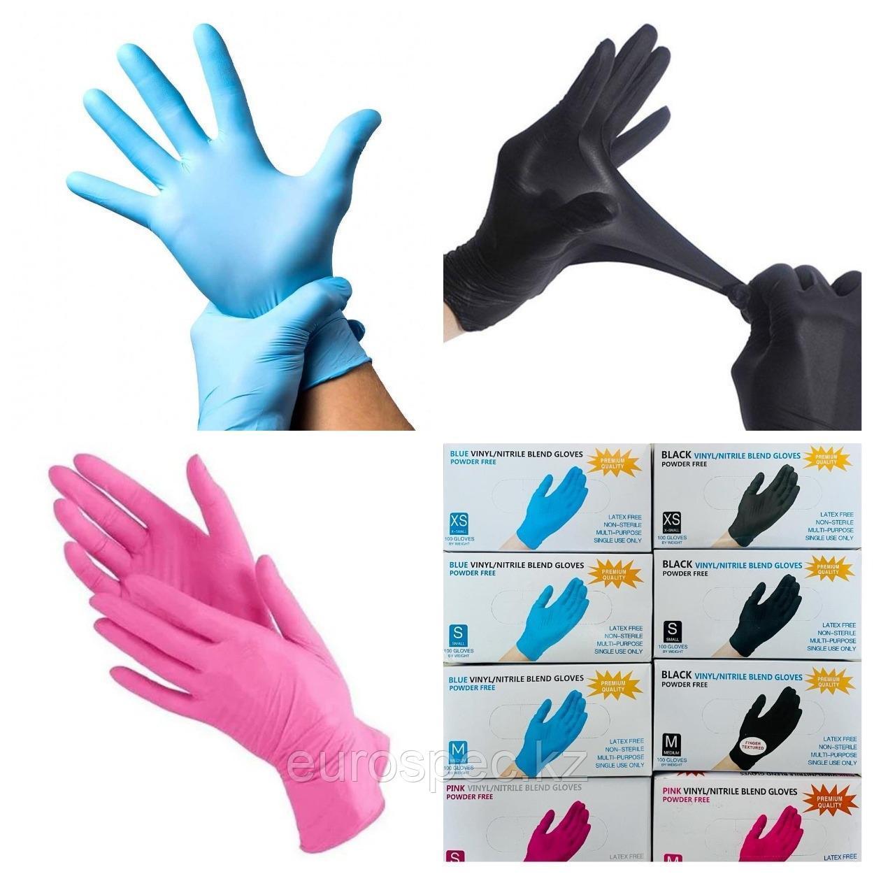 Медицинские перчатки, нитриловые/виниловые Wally Plastic и Unex, отличное качество!