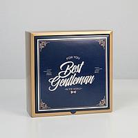 Коробка складная «Джентельмен», 25 × 25 × 10 см