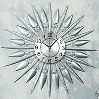 """Часы настенные, серия: Ажур, """"Аквилегия"""", d=70 см, циферблат=22 см"""