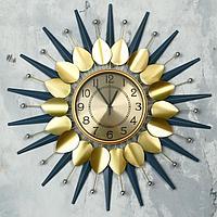 """Часы настенные, серия: Ажур, """"Аллиум"""", d=70 см, циферблат=22 см"""