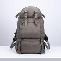 Рюкзак туристический, 65 л, отдел на молнии, 3 наружных кармана, цвет оливковый