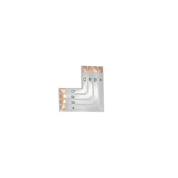 Коннектор L- образный мягкий под пайку RGB IP20