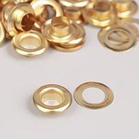 Люверс, d 8 мм, 50 ± 5 шт, цвет золотой