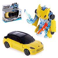 Робот с трансформацией 'Кроссовер', с металлическими элементами, цвет жёлтый