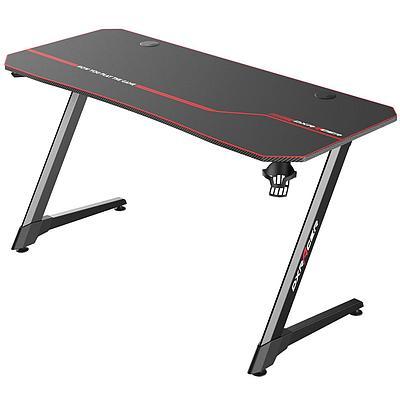 Стол для геймеров DXRacer GD/003/N, дерево, сталь, ABS пластик, 140х75х60 см, Black-Red