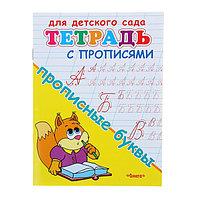 Тетрадь с прописями для детского сада 'Прописные буквы'