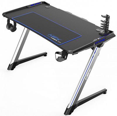 Стол для геймеров DXRacer GD/N001/NS, дерево, сталь, ABS пластик, 120x70x64 см, Black-Blue