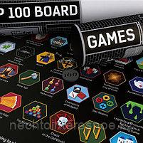 Скретч-Постер  Топ 100 Настольных Игр, фото 5