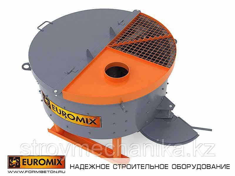 Бетоносмеситель 500 л. EUROMIX 600.500 ( принудительного действия )