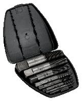 Набор экстракторов для обломанных винтов, болтов и шпилек, пластиковый кейс 1435/8