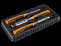 Набор профессиональных стамесок с двухкомпонентной рукояткой в картонной коробке, 3 шт. 424P-S3-EUR