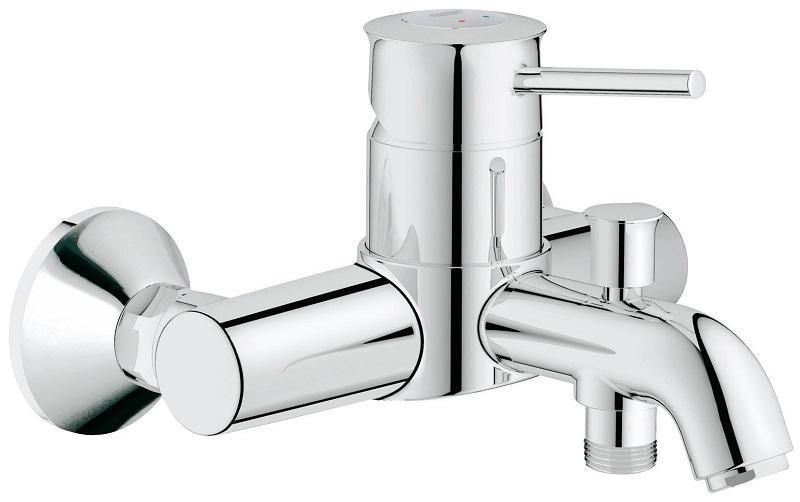 Смеситель для ванны GROHE BauClassic с переключателем ванна душ (32865000)