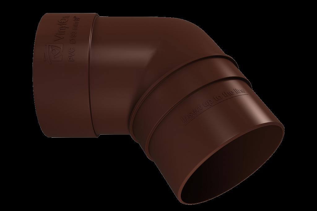 Колено трубы 45 (КОФЕ) в упк. 12 шт.