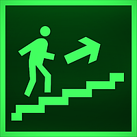 """ФЭС-24 Знак E 15 """"Направление к эвакуационному выходу по лестнице вверх (прав)"""" на"""