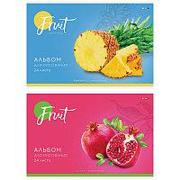 Альбом для рисования ArtSpace «Фрукты. Colorful fruits» на скрепке.