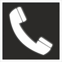 """Знак F 05 """"Телефон для использования при пожаре"""" на световозвращающей светоотражающей пленке самоклеящийся"""