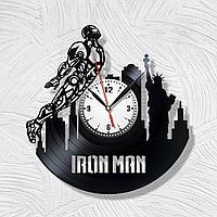 Настенные часы iron man железный человек ,подарок фанатам, любителям, 1716