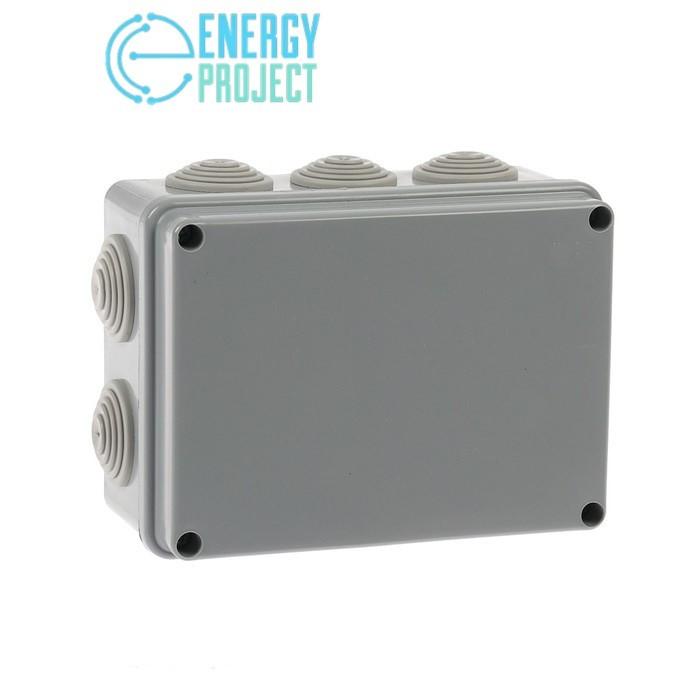 Коробка распаячная пылевлагозащитная с эластичным мембранным вводом УПрк 120*80/50 IP55