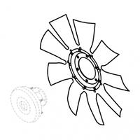 Вентилятор QSM11 для экскаватора Hyundai R520LC-9.