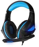 Гарнитура игровая CROWN CMGH-2101 Black&blue
