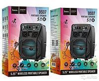 Колонка HOCO DS07 Force wireless speaker с микрофоном black 1800mAh