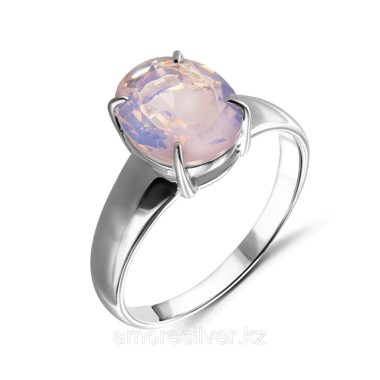 """Кольцо Teosa серебро с родием, фианит, , """"каратник"""" 1000-0398-PML размеры - 17,5"""