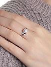 Кольцо TEOSA серебро с родием, жемчуг культ. фианит, фантазия 190-9-649Р размеры - 17,5, фото 3