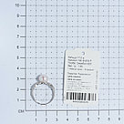 Кольцо TEOSA серебро с родием, жемчуг культ. фианит, ажурное 190-9-819Р размеры - 17,5, фото 2