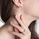 Кольцо TEOSA серебро с родием, жемчуг культ. фианит, ажурное 190-9-819Р размеры - 17,5, фото 4