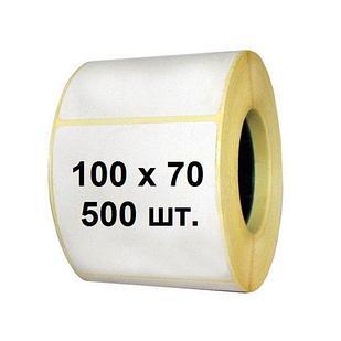 Термоэтикетка самоклеющаяся 100*70 мм (500 эт/рул)