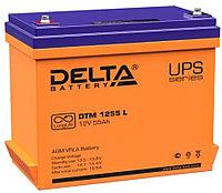 Аккумулятор Delta DTM 1255 L (12В, 55Ач), фото 1