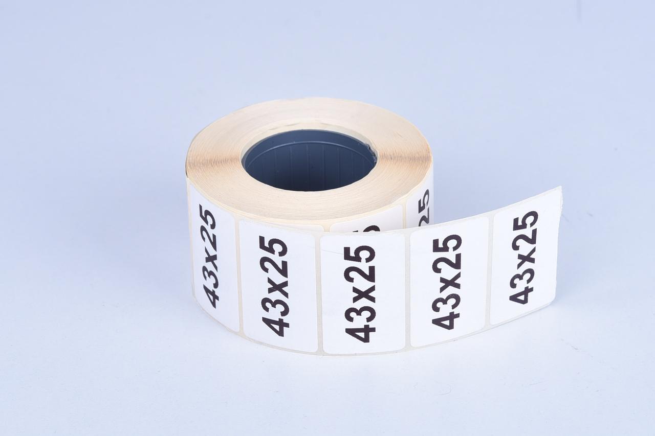 Термоэтикетка самоклеющаяся 43*25 мм (1000 эт/рул)