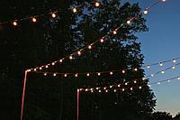 Белт-лайт гирлянды c лампочками для летних площадок, кафе 10 метров соеденяются, фото 5
