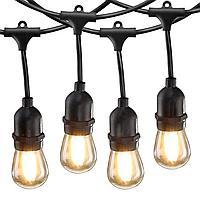 Белт-лайт гирлянды c лампочками для летних площадок, кафе 10 метров соеденяются до 10 км., фото 4