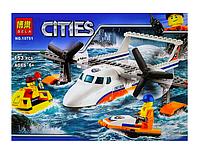 Конструктор Lari Город Спасательный самолет береговой охраны 10751 (60164) 153 дет