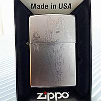 "Зажигалка ""Zippo"" - Волк. Оригинал, фото 1"