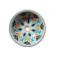 Раковина-чаша для хамам с декором. Арт.4366