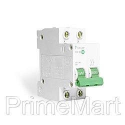 Автоматический выключатель реечный iPower ВА47-63 2Р 6А