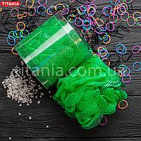 Мочалка банная бантик из синтетических материалов в коробке TITANIA art.9107 BOX Зеленый