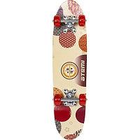 Скейтборд Atemi ASB24D02 beige/red