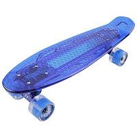 "Penny board (пенни борд) Tech Team Transparent 22"" Light 2021 light blue"