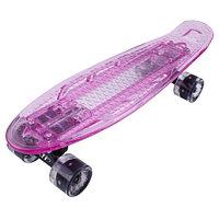 "Penny board (пенни борд) Tech Team Transparent 22"" Light 2021 light pink"