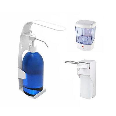 Дозаторы для мыла и антисептика (сенсорные и локтевые дозаторы)