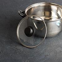 Крышка для сковороды и кастрюли стеклянная, d=18 см, с прикручивающейся ручкой